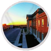 Truman Courthouse  Round Beach Towel by Dave Luebbert