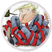 Trump Chaos Round Beach Towel