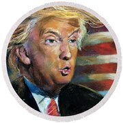 Trump Round Beach Towel