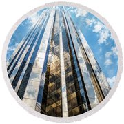 Trump Tower New York City Round Beach Towel