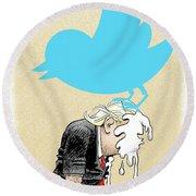 Trump Twitter Poop Round Beach Towel