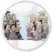 Trumpettes Horror Round Beach Towel