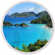 Trunk Bay St. John Round Beach Towel