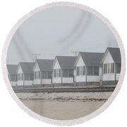 Truro Fog Imagination Round Beach Towel by Charles Harden