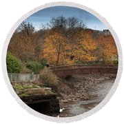 Round Beach Towel featuring the photograph Truro River by Brian Roscorla