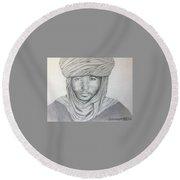 Tuareg Beduin Round Beach Towel