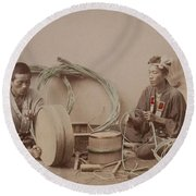 Tub-maker 1890 Round Beach Towel