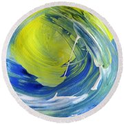 Round Beach Towel featuring the painting Tube #4 by Fred Wilson