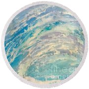 Round Beach Towel featuring the painting Tube by Fred Wilson