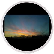 Round Beach Towel featuring the photograph Tuesday Sunrise by Anne Kotan