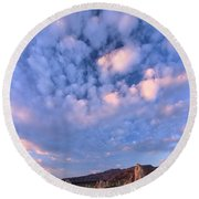 Tufa Sunrise Round Beach Towel