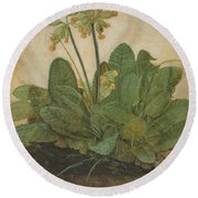 Tuft Of Cowslips Round Beach Towel