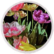 Round Beach Towel featuring the photograph Tulip 8 by Pamela Cooper