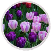 Tulip Blush Round Beach Towel