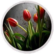 Tulip Bouquet 2 Round Beach Towel by Mary-Lee Sanders