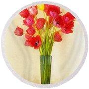 Tulip Bouquet Round Beach Towel