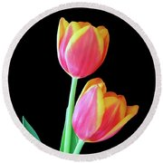 Tulip Duo Round Beach Towel
