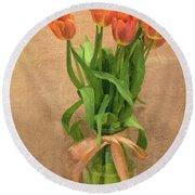 Tulip Impasto Round Beach Towel