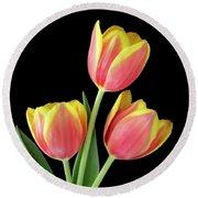 Tulip Passion Round Beach Towel