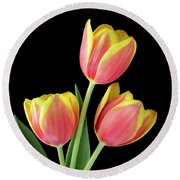 Tulip Passion Round Beach Towel