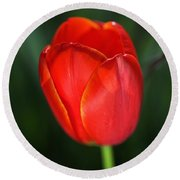 Tulip Red With A Hint Of Yellow Round Beach Towel