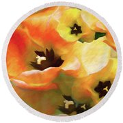Tulip Sheen 3  Round Beach Towel