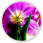 Tulip Time Round Beach Towel