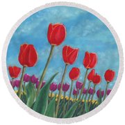Tulip View Round Beach Towel
