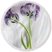 Tulipa And Her Lover Alessandro  Round Beach Towel