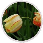 Nodding Tulips Round Beach Towel