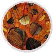 Tulips And Violins Round Beach Towel