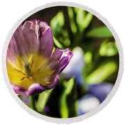 Tulips At The End Round Beach Towel