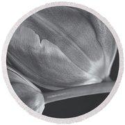 Tulips Crossed Round Beach Towel by Rachel Cohen