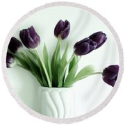 Tulips For You Round Beach Towel