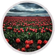 Tulips Forever Round Beach Towel