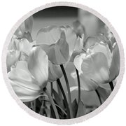 Tulips Round Beach Towel by JoAnn Lense