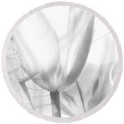 Tulips No. 3 Round Beach Towel