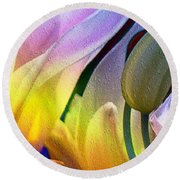 Tulips Secret Round Beach Towel