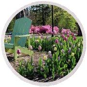 Tulips Toledo Botanical Gardens 0573 Round Beach Towel