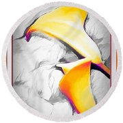 Lilies Lily Round Beach Towel