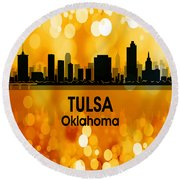 Tulsa Ok 3 Squared Round Beach Towel