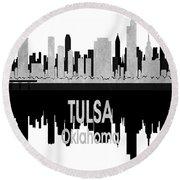 Tulsa Ok 4 Vertical Round Beach Towel