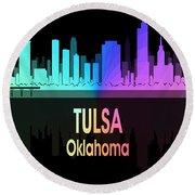 Tulsa Ok 5 Vertical Round Beach Towel