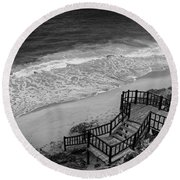 Tulum Beach Round Beach Towel by Ana Mireles