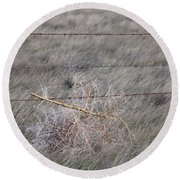Round Beach Towel featuring the photograph Tumbleweed by Fran Riley