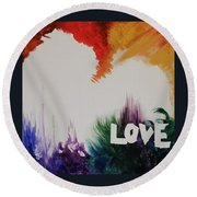 Tumultuous Love Round Beach Towel by Autumn Leaves Art