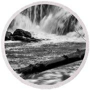 Tumwater Waterfalls#2 Round Beach Towel
