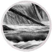 Tumwater Waterfalls#3 Round Beach Towel