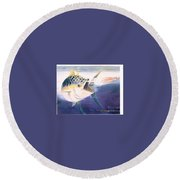 Tuna To The Lure Round Beach Towel