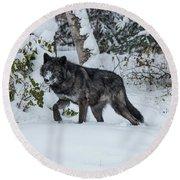 Tundra Wolf 6701 Round Beach Towel